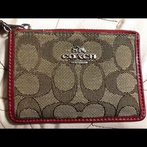 Coach ID holder/key chain/wallet